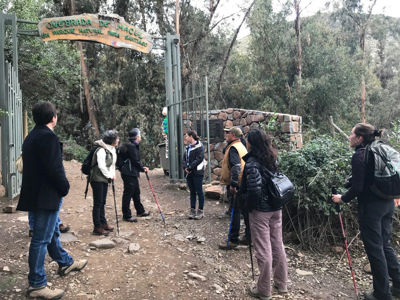 Excursión en la Quebrada de Macul