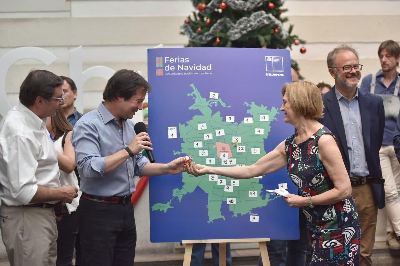"""Ministro Palacios tras presentar mapa de Ferias Navideñas: """"Vamos a beneficiar a más de 14 mil Pymes"""""""