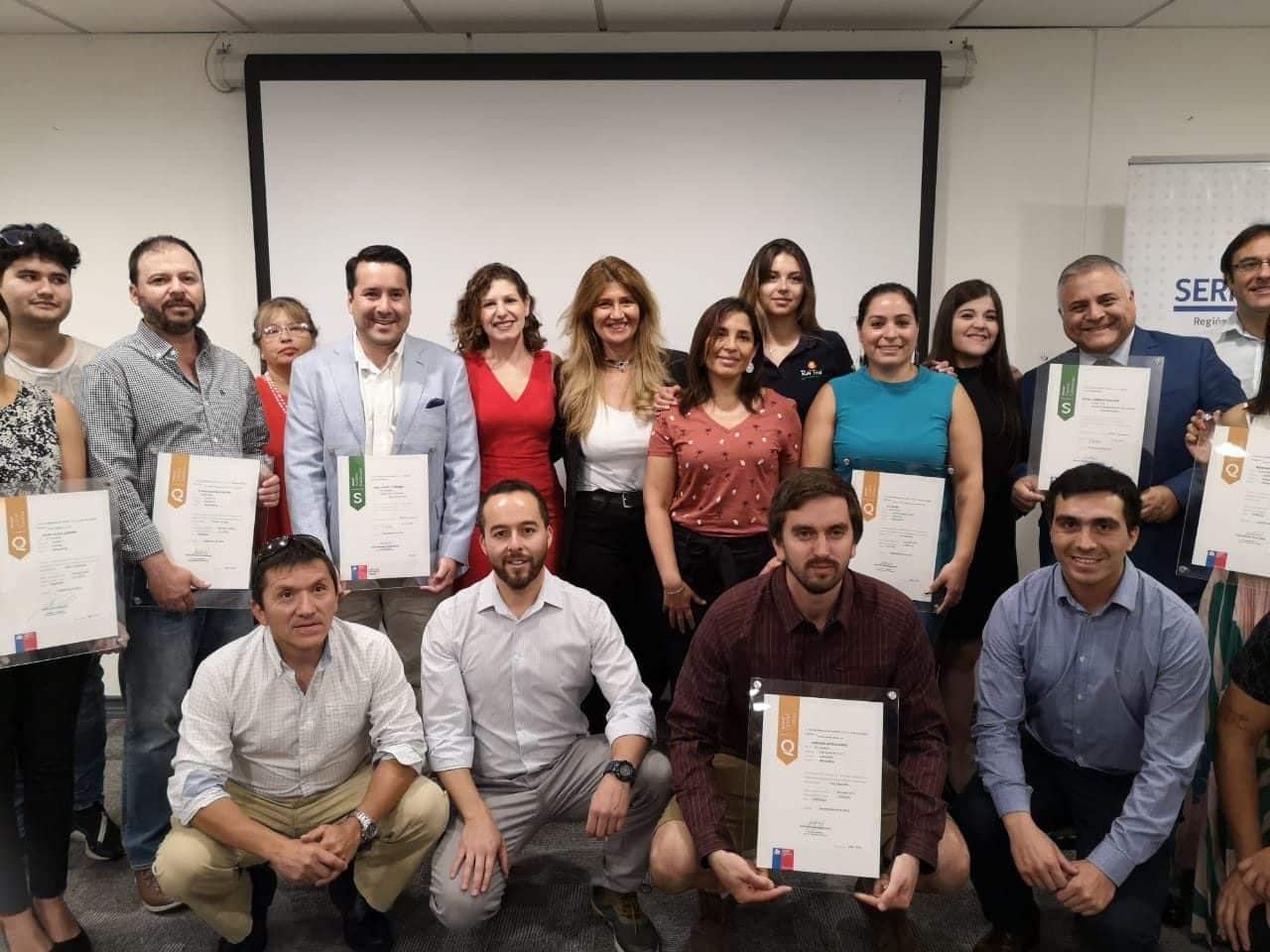 Sernatur distingue a empresarios turísticos de la Región Metropolitana por su compromiso con la calidad y sustentabilidad