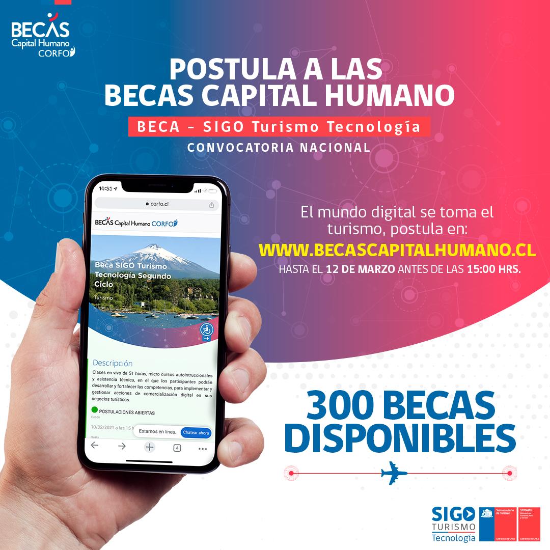 Programa de estrategias digitales reabre sus inscripciones para posicionar la industria del turismo chileno