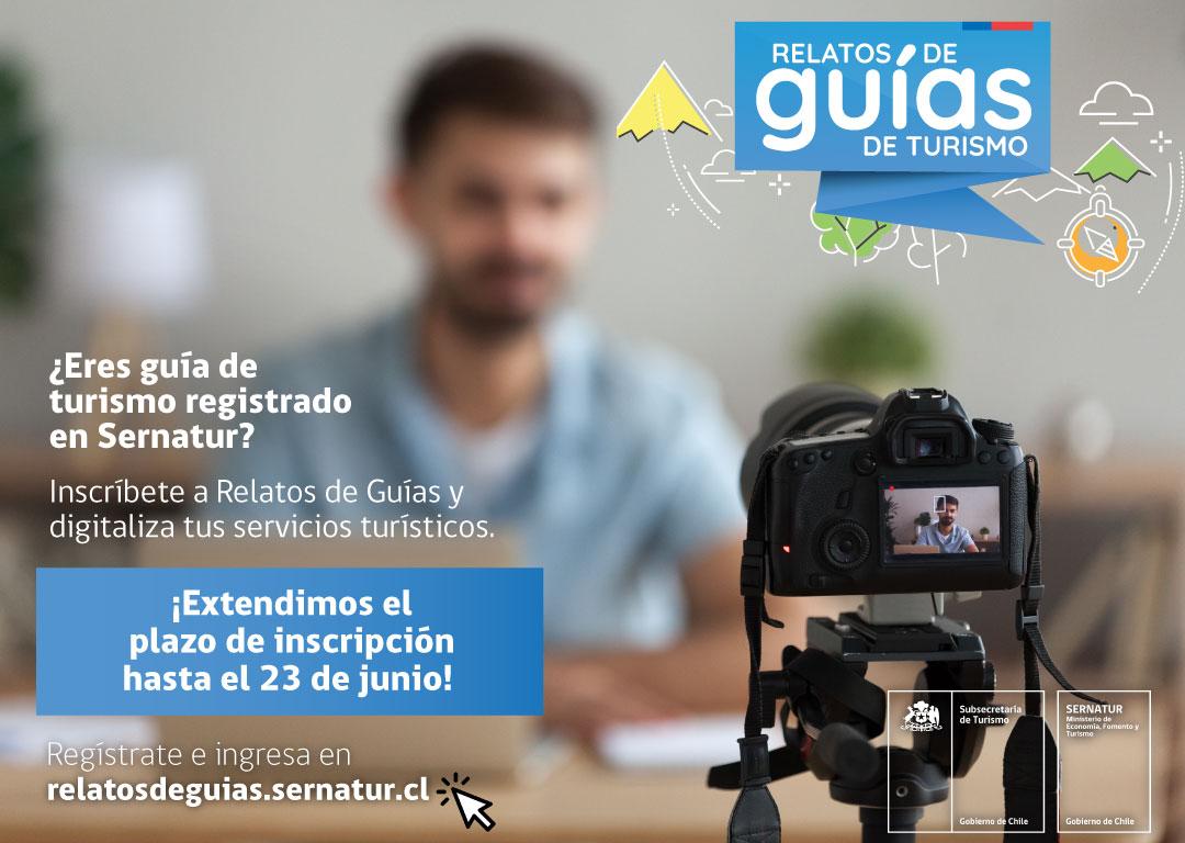 Se amplía plazo de inscripción para plan de apoyo a guías turísticos