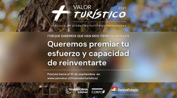 Sernatur lanza concurso Más Valor Turístico para premiar a quienes se reinventaron durante la pandemia