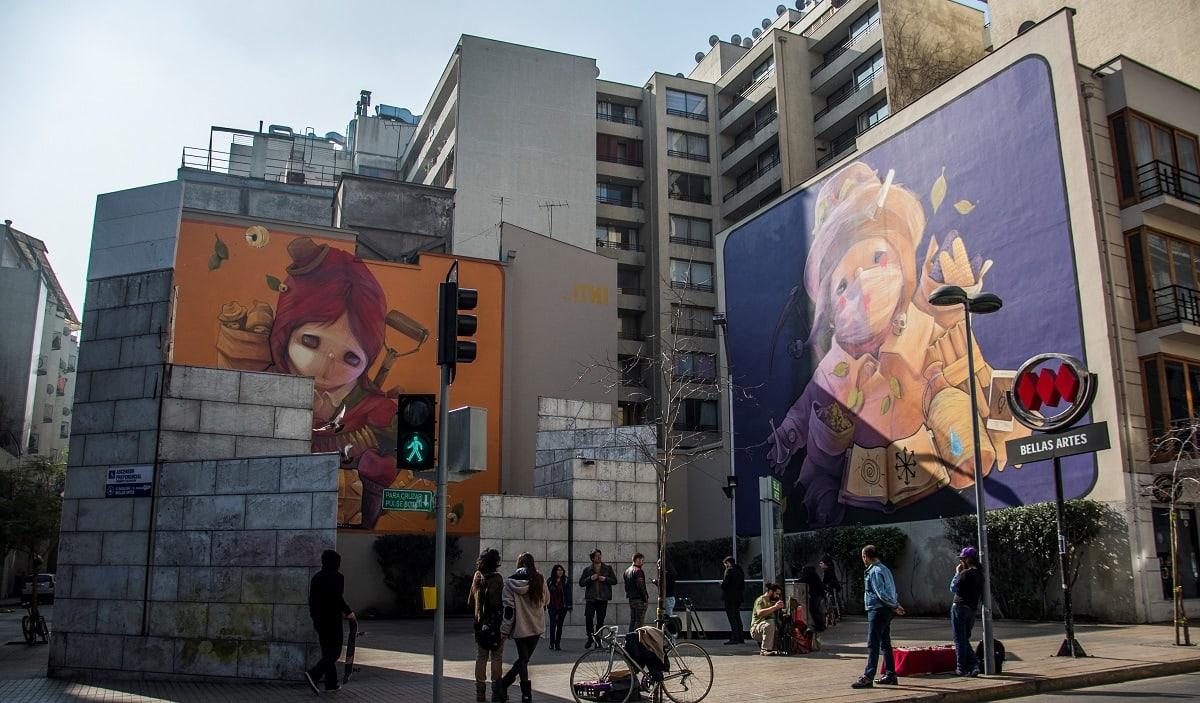 El Arte Urbano se toma Santiago con sus Murales