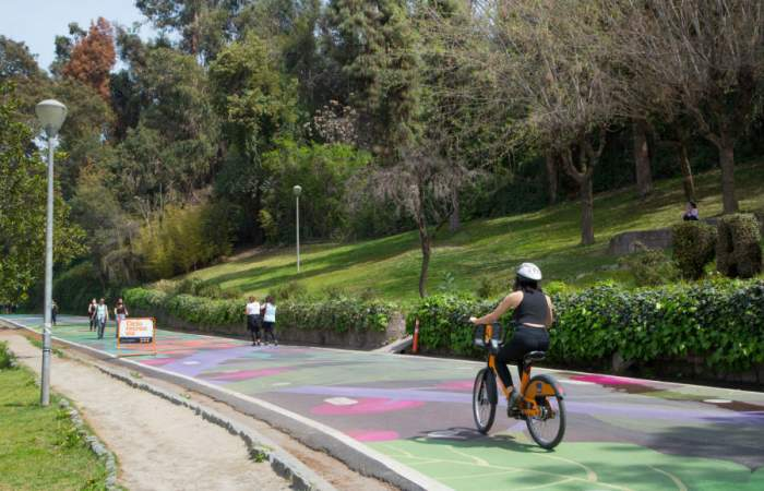 Habilitan acceso de ciclistas en Parque Metropolitano y lecho del río Mapocho